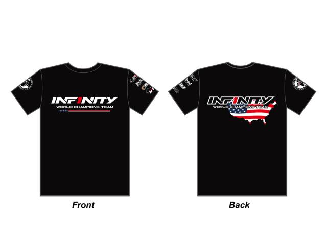 "[A0070-BK] INFINITY 2019 Team ""U.S.A."" T-Shirt (BK)"