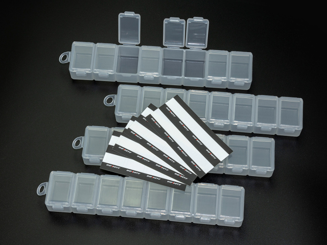 [A0076] INFINITY SMALL PARTS CASE (8 Compartments/4pcs)
