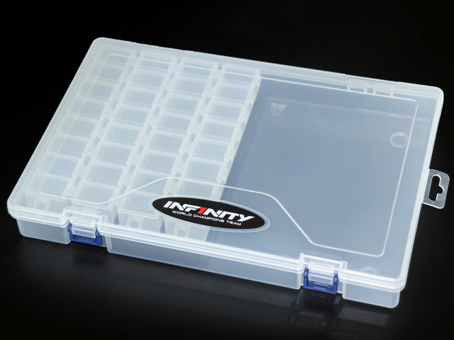 [A0077-4] INFINITY SMALL PARTS CASE SET (8 Compartments/4pcs)