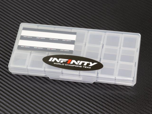 [A0079] INFINITY SMALL PLASTIC PARTS CASE (3 Compartments /7pcs)