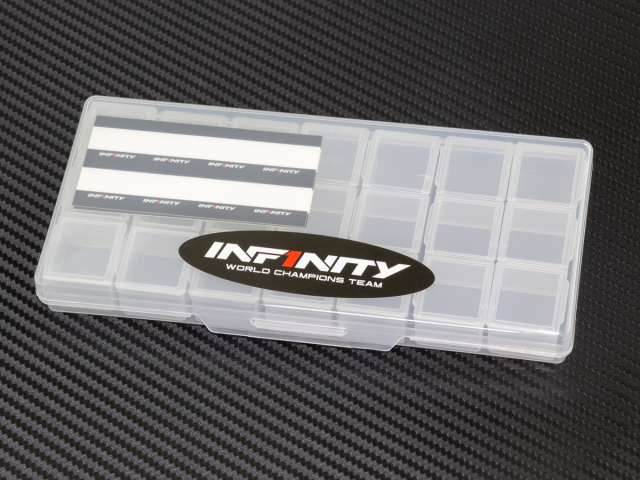 [A0079] INFINITY SMALL PLASTIC PARTS CASE (3 Compartments /7pcs)
