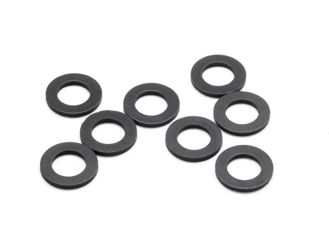 RUBBER BODY MOUNT SPACER S (6x10x1.0mm/8pcs)