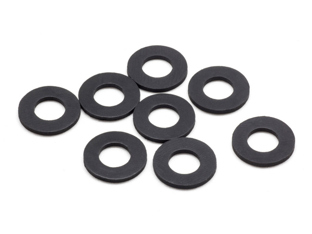 RUBBER BODY MOUNT SPACER M (6x12x1.0mm/8pcs)
