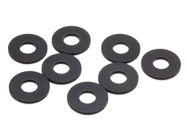 RUBBER BODY MOUNT SPACER L (6x14x1.0mm/8pcs)