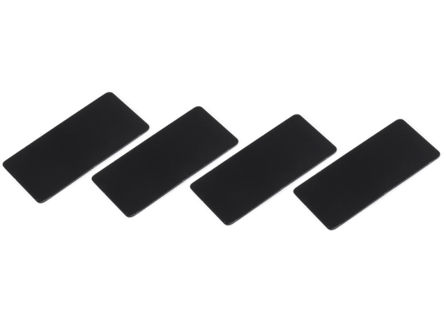 [SMJ1141B] WING ENDPLATE for 1/10 Touring Car (Black/0.5mm/4pcs)