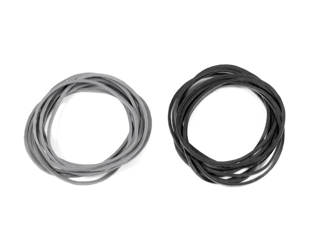 CARBURETOR RETURN RUBBER BAND (Black/Gray/each 10pcs)