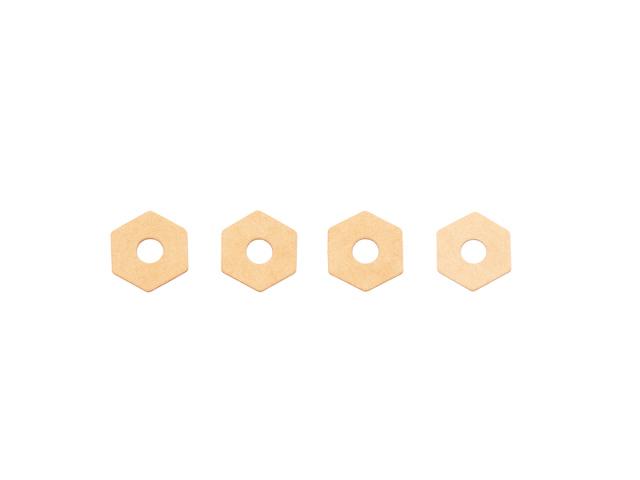 [SMJ1312] SMJ HIGH TRACTION HEX WHEEL SHIM 0.5mm (Medium/4pcs)