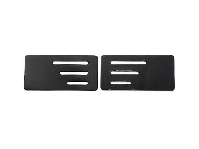 [SMJ1323] WING ENDPLATE with SLIT for 1/10 TC (Black/0.5mm/2pcs)