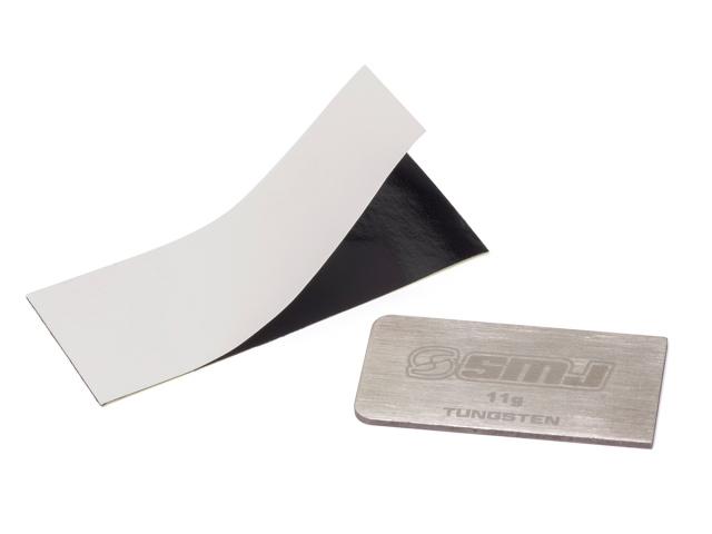 [SMJ3521] THIN TYPE TUNGSTEN WEIGHT PLATE 11g (33x16.7x1.0mm)