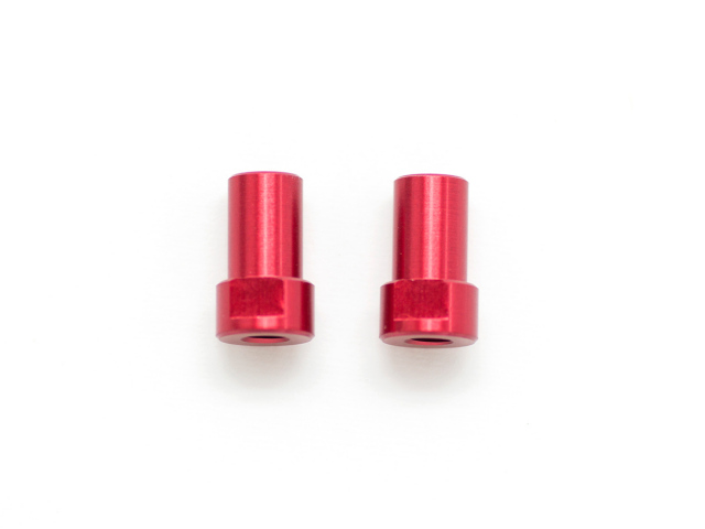 CHASSIS MOUNTED ALU STEERING POST (Red/2pcs)