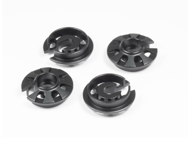 ALU SHOCK SPRING RETAINING COLLAR (Black/4pcs)