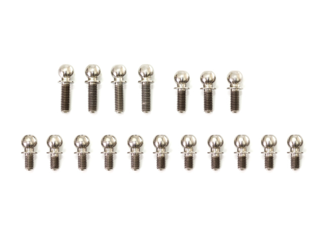 [T260] IF14-2 TITANIUM BALL END 4.9mm SET (18pcs)