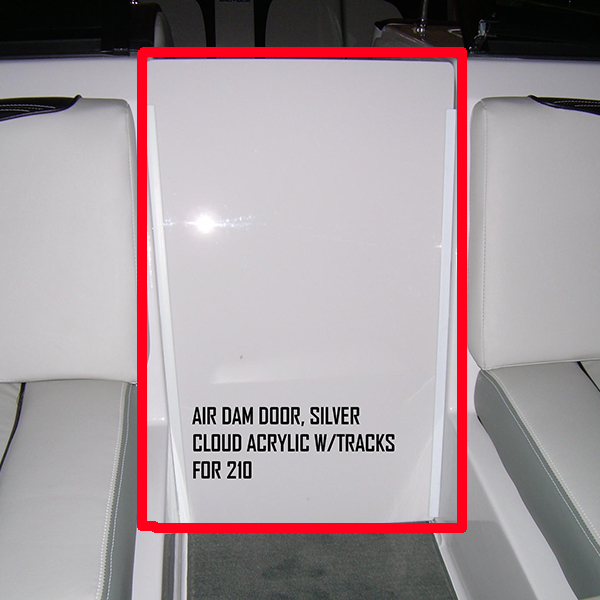 AIR DAM DOOR SILVER CLOUD ACRYLIC W/TRACKS FOR 210