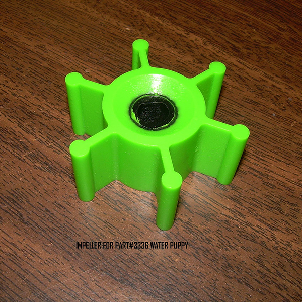 IMPELLER FOR WATER PUPPY( PART# 3336 ) LIME GREEN