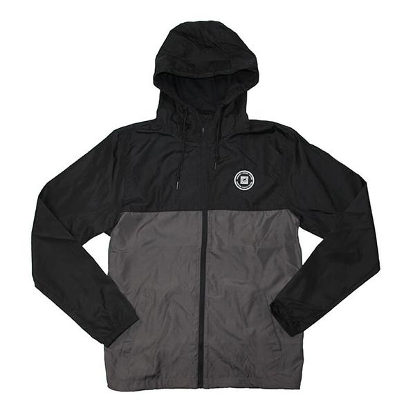 Nautique Lightweight Windbreaker Jacket Black/Graphite