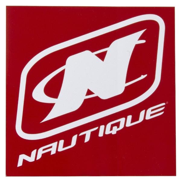 Nautique Square Adhesive Decal Red