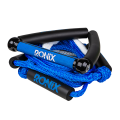 "RONIX Bungee Surf Rope 10"" Hide Grip-25ft 4Sect. Rope Blue/Silver"
