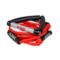 "RONIX Bungee Surf Rope 10"" Hide Grip-25ft 4Sect. Rope Red/Silver"