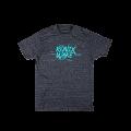RONIX Supreme T-Shirt - Charcoal Heather / Aqua Blue