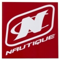Nautique Square Adhesive Decal Red