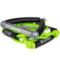 """RONIX Bungee Surf Rope 10"""" Hide Grip-25ft 4Sect. Rope Green/Silver"""