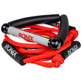 """RONIX Bungee Surf Rope 10"""" Hide Grip-25ft 4Sect. Rope Red/Silver"""
