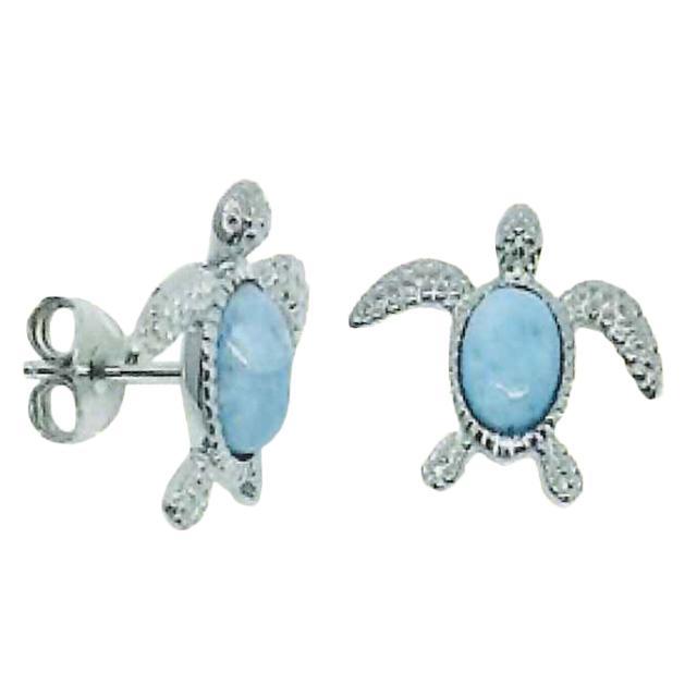 Larimar Stone Jewelry ホヌピアス
