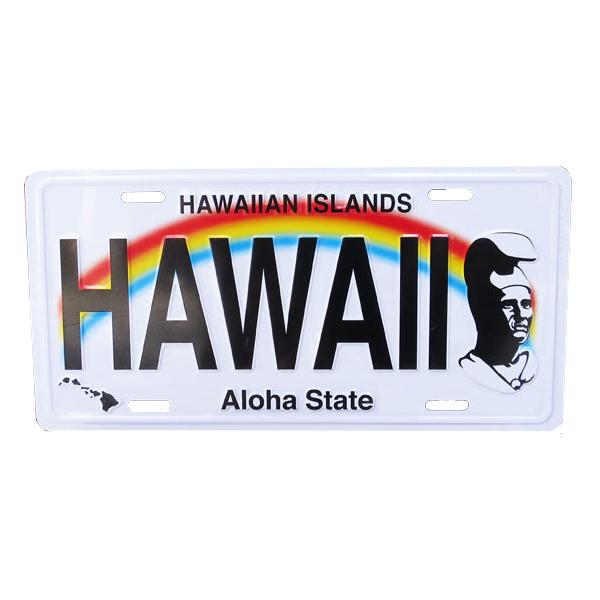 アルミ製 ハワイアンライセンスプレート キング