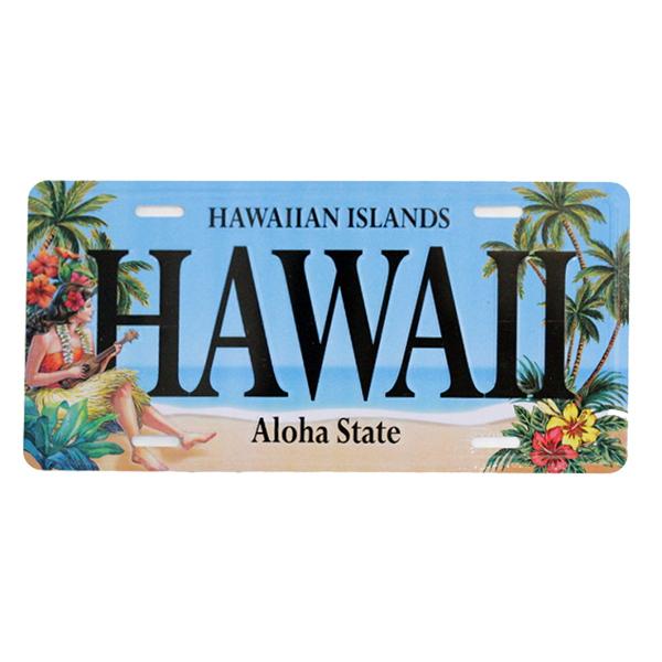 アルミ製ハワイアンライセンスプレート ヴィンテージハワイ