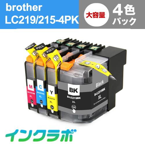 ブラザー 互換インク L219/215-4PK 4色パック大容量