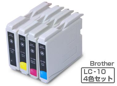 Brother(ブラザー)インクカートリッジ LC10-4PK4色パック