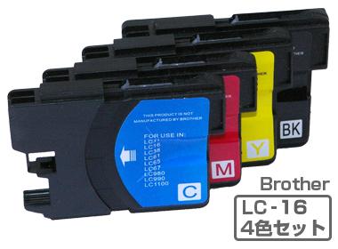 Brother(ブラザー)インクカートリッジ LC16-4PK