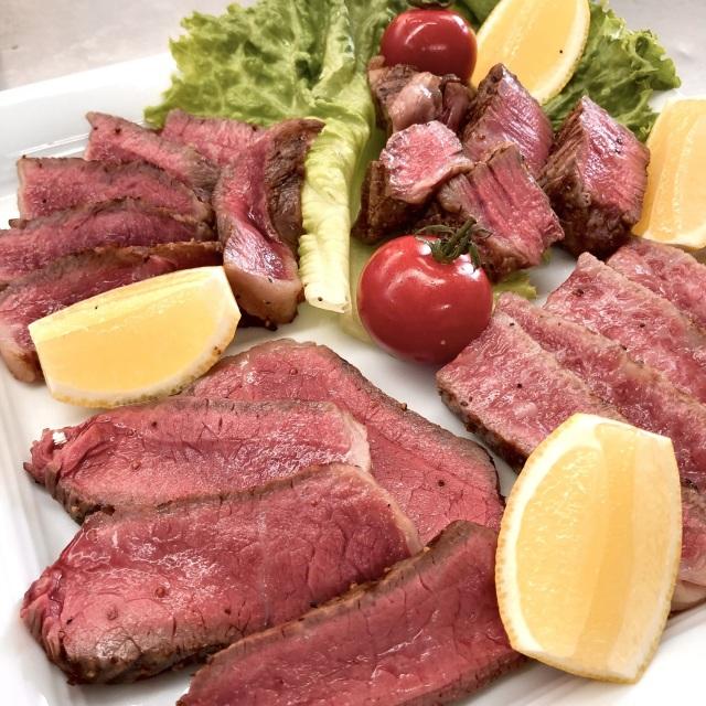 ミニステーキ 4種食べ比べセット【ヒレ、ロース、ランプ、イチボ】 (合計約400g真空冷凍)
