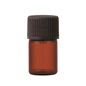 [生活の木]茶色遮光ビン 3ml [ドロッパー付き]
