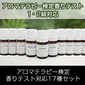 アロマテラピー検定香りテスト対応17種セット(インセントブランド/日本アロマ環境協会/表示基準適合認定精油/インセント)