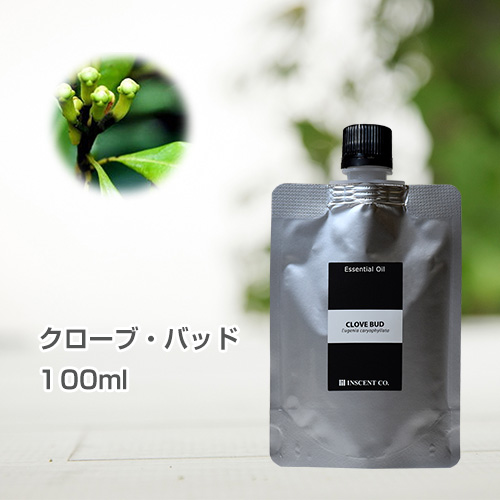 クローブ・バッド 100ml (詰替用/アルミパック) インセント エッセンシャルオイル 精油