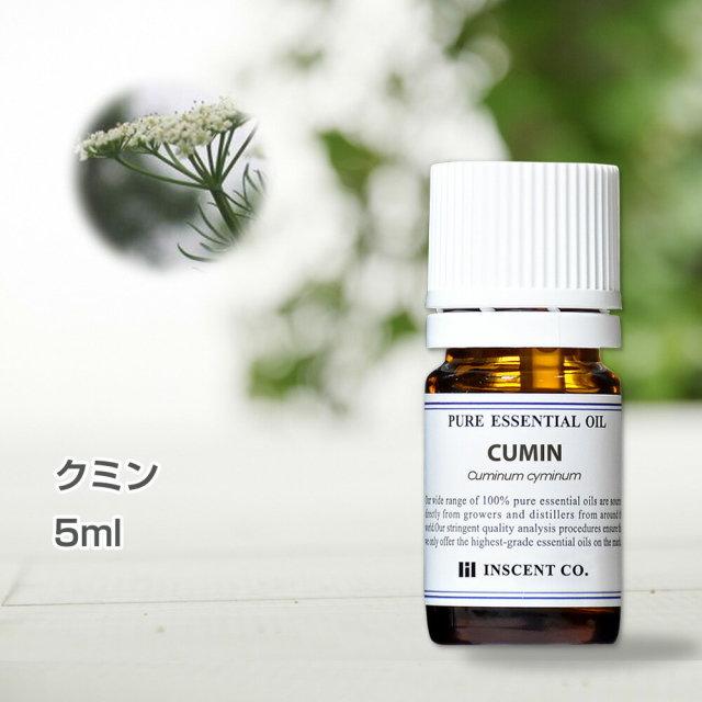 クミン 5ml アロマオイル 精油 エッセンシャルオイル AEAJ (公社)日本アロマ環境協会表示基準適合認定精油 アロマ ディフューザー 加湿器 インセント 通販 【IST】