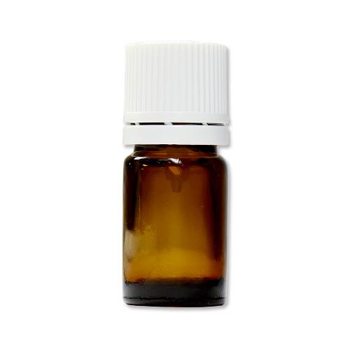 茶色遮光ガラス瓶 5ml (白キャップ/ドロッパー付)