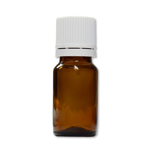 茶色遮光ガラスビン 10ml (白キャップ/ドロッパー付)
