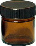 [生活の木] 茶色ガラス・クリーム容器 25ml