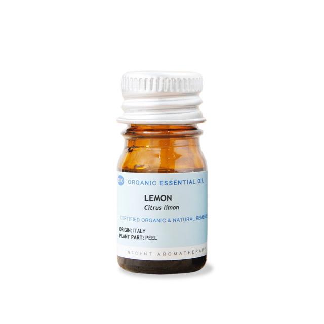 [オーガニック] レモン 5ml インセントオーガニック エッセンシャルオイル 精油