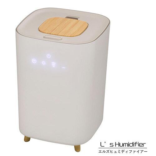 【送料無料】大容量  ハイブリッド式アロマ加湿器「L's Humidifier (エルズ ヒュミディファイアー)」 【タイマー付】【保証書付】