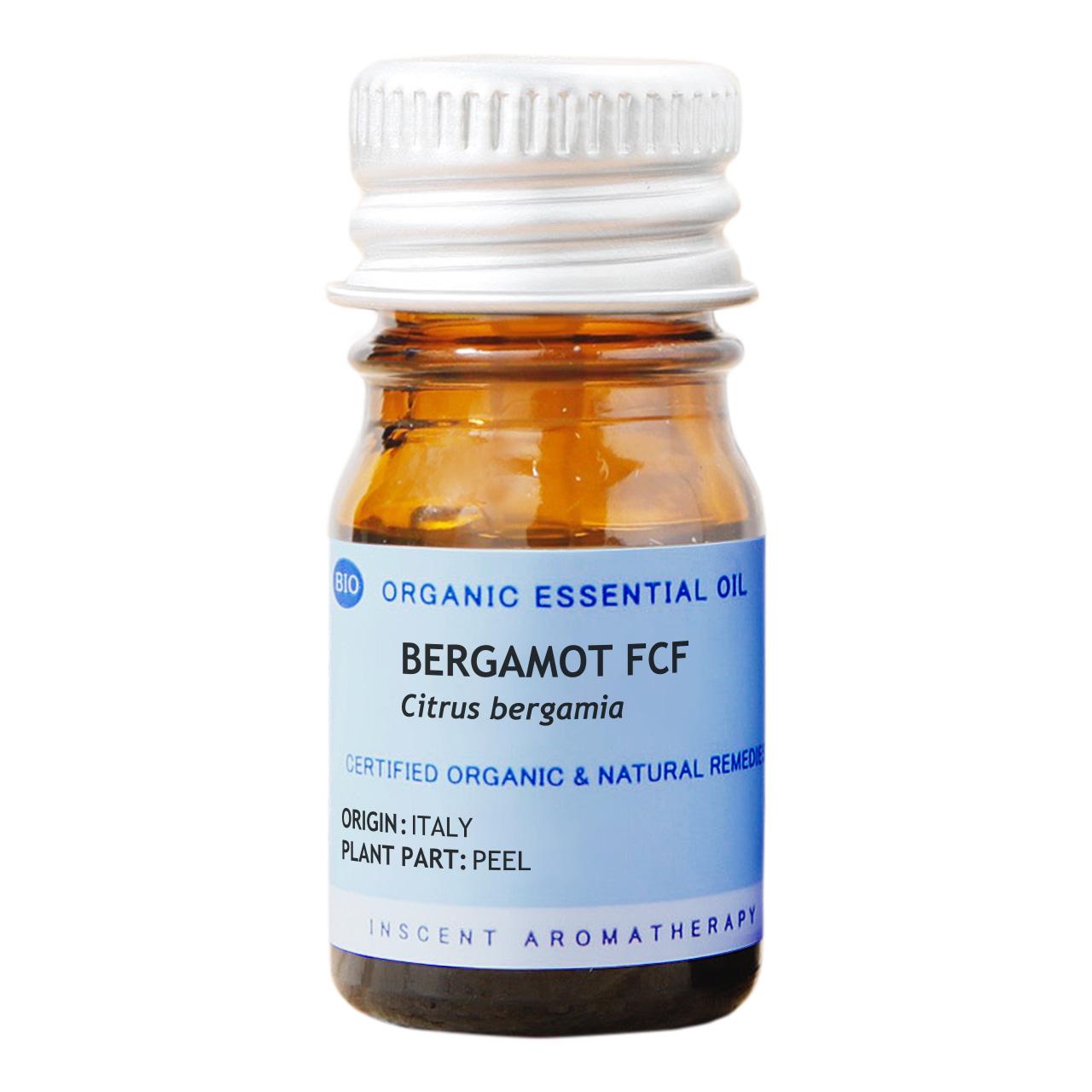 [オーガニック] ベルガモットFCF[ベルガプテンフリー] 5ml インセントオーガニック エッセンシャルオイル 精油