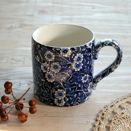 Burleigh(バーレイ) ブルーキャリコ マグカップ