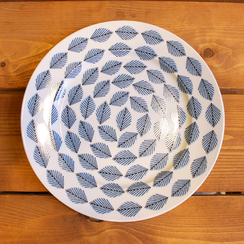 House of Rym (ハウスオブリュム) ディナープレート Blue leaves