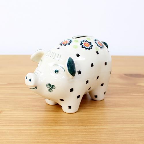 ポーリッシュポタリー WIZA(ヴィザ) ぶた貯金箱(296)