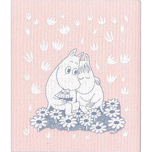 ムーミン スポンジワイプ ムーミンとフローレン(ピンク)