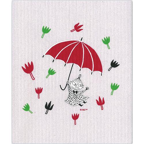 ムーミン スポンジワイプ ミィと傘(パープル)