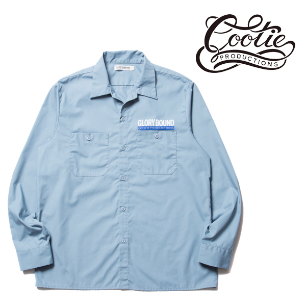 COOTIE(クーティー) T/C Work Shirt (SAXE)