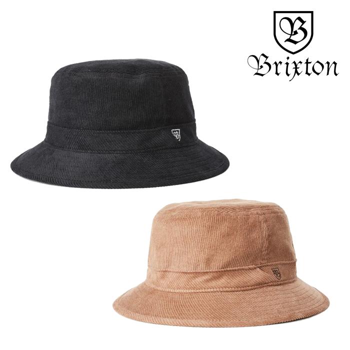 BRIXTON(ブリクストン) B-SHIELD BUCKET HAT 【バケットハット 帽子】【2020SPRING新作】【定番 ロゴ刺繍 ブラック ベージュ】